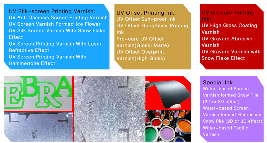 UV Offset Overprint Glossy Varnish